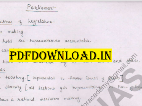 Indian Polity Handwritten Notes and PDF