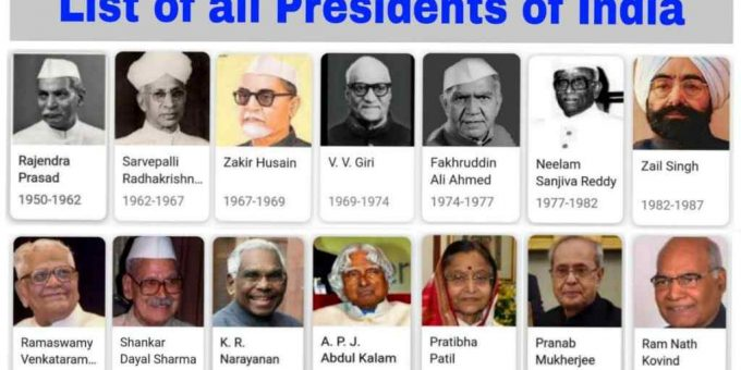 List Of All Presidents Of India Till Now PDF