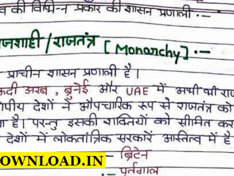 Indian Polity Handwritten Notes PDF In Hindi