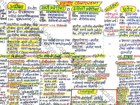 World Geography Physical Feature Handwritten Notes PDF in Hindi