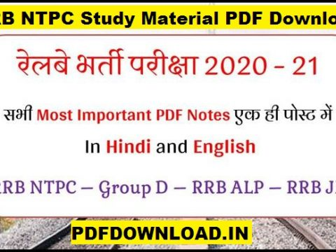 RRB NTPC Study Material PDF Download