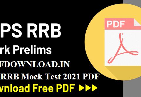 IBPS RRB Mock Test 2021 PDF